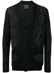 Laneus Embellished Cardigan Black