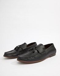 New Look Faux Leather Loafers With Tassels In Black