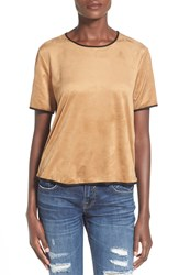Artee Couture Faux Suede Tee Camel