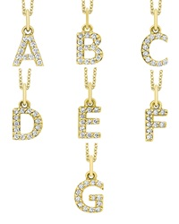 Kc Designs 14K Yellow Gold Diamond Initial And Chain A