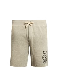 Polo Ralph Lauren Raw Edged Cotton Blend Jersey Shorts Light Grey