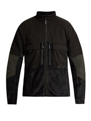 7L Panelled Fleece Jacket Black