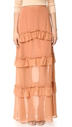 Nicholas Georgette Tiered Skirt Clay
