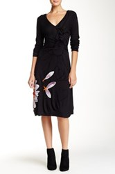Desigual Velvet Textured Dress Black