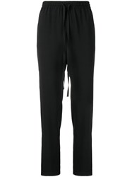 Red Valentino Drawstring Track Trousers Black