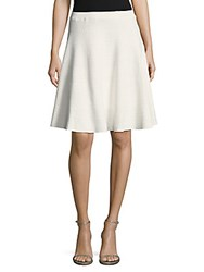 Saks Fifth Avenue Debossed Ruffled Skirt White