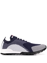 Kiton Contrast Low Top Sneakers White