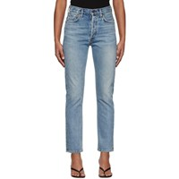 Citizens Of Humanity Blue Charlotte High Rise Straight Jeans