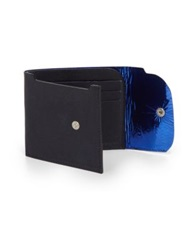 Maison Martin Margiela Patent Lined Leather Wallet Navy Blue