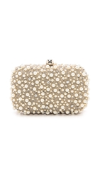 Santi Beaded Box Clutch Taupe