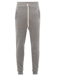 John Elliott Escobar Loop Back Cotton Jersey Track Pants Dark Grey