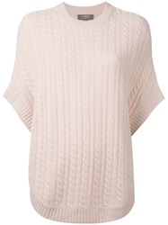 N.Peal Cable Knit Sweater Cape Nude Neutrals