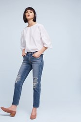 Anthropologie Jean Shop Ellen High Rise Boyfriend Petite Jeans Denim Dark