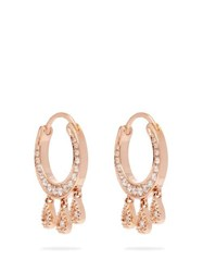 Jacquie Aiche Diamond And Rose Gold Earrings Gold