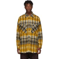Faith Connexion Black And Yellow Tweed Overshirt