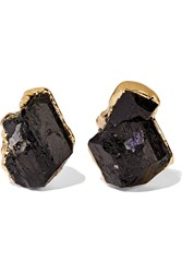 Dara Ettinger Gold Tone Tourmaline Earrings Metallic