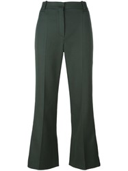 Nina Ricci Flared High Waisted Trousers Green