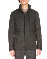 Berluti Lightweight Wool Puffer Jacket Gray