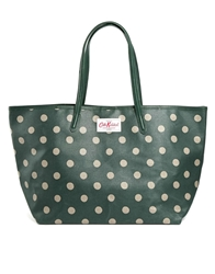 Cath Kidston Leather Trim Large Tote Buttonspot