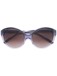 Courreges Round Sunglasses Women Acetate One Size Grey