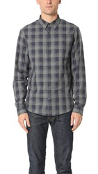 Vince Ombre Plaid Shirt Blue