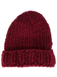 Christopher Raeburn Hand Knit Hat Red
