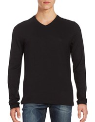 Hugo Boss Muted Striped Pullover Black