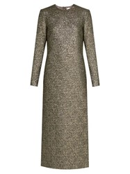 Racil Auriga Metallic Brocade Dress Gold