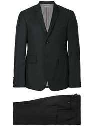 Thom Browne Two Piece Suit Cupro Wool Grey
