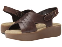 Bass Sadie Cocoa Gibson Leather Women's Sandals Brown