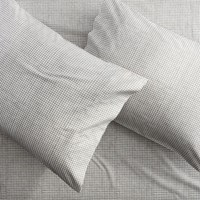 Cb2 Set Of 2 Graph Percale Standard Pillowcases.