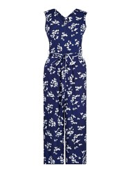 Yumi Cherry Blossom Jumpsuit Navy