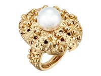 Oscar De La Renta Urchin Pearl Ring Light Gold Ring