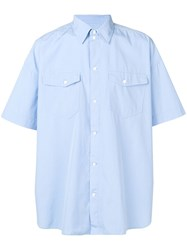 Tom Wood Oversized Shortsleeved Shirt Blue