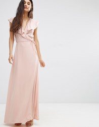 Oh My Love Wrap Maxi Dress Peach Pink
