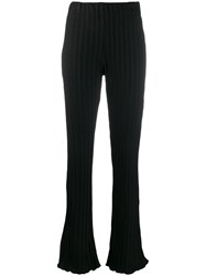 Simon Miller Flared Fitted Trousers Black