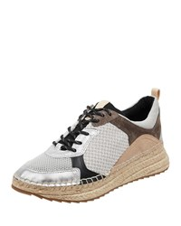 Marc Fisher Janette 4 Mixed Espadrille Sneakers Light Natural