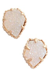 Kendra Scott Women's 'Tessa' Stone Stud Earrings Iridescent Drusy Rose Gold