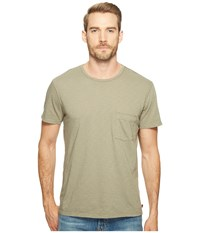 7 For All Mankind Short Sleeve Raw Pocket Crew Sage Men's Clothing Green