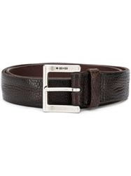 Orciani Classic Square Buckle Belt Brown
