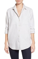 Women's Madewell 'Sunday' Flannel Shirt Bright Ivory