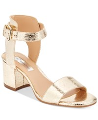 Inc International Concepts Women's Hallena Block Heel Dress Sandals Only At Macy's Women's Shoes Gold