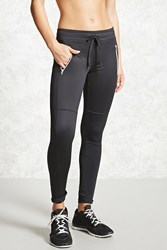 Forever 21 Active Stretch Knit Joggers Black