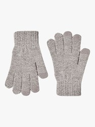 French Connection Touch Screen Gloves Light Grey