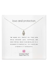 Dogeared Women's Love And Protection Pendant Necklace Silver