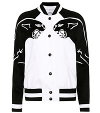 Valentino Wool And Cashmere Varsity Jacket Multicoloured