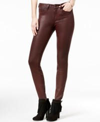 Jessica Simpson Metallic Skinny Jeans Biking Red