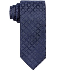 Alfani Men's Windsor Grid Slim Tie Only At Macy's Blue