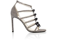 Saint Laurent Women's Mini Bow Embellished Sandals Gold