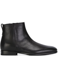 Salvatore Ferragamo Square Toe Boots Black
